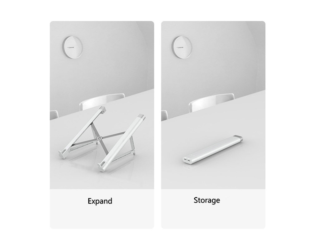 Laptop Stand for MacBook Pro Foldable Tablet Bracket Computer Holder for Notebook - White