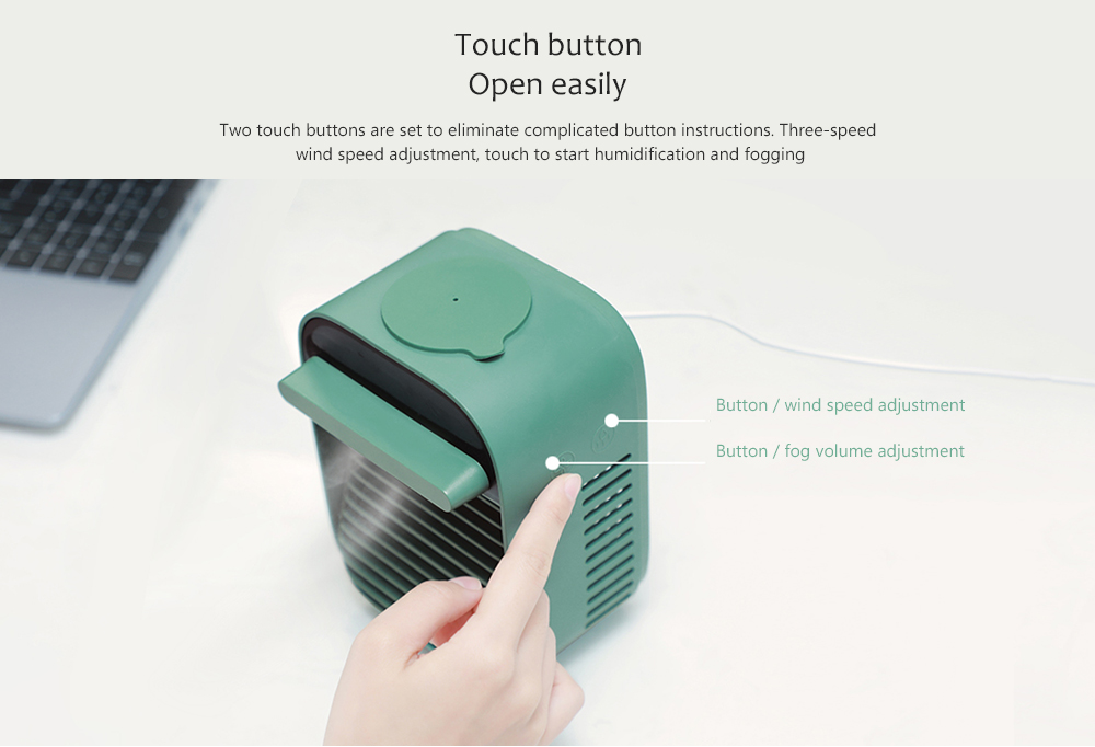 Nesugar R012 Cube Water Cooling Fan Touch button Open easily