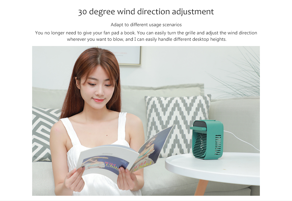 Nesugar R012 Cube Water Cooling Fan 30 degree wind direction adjustment