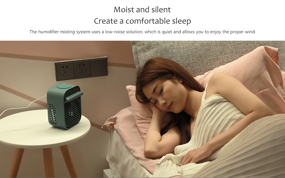 Nesugar R012 Cube Water Cooling Fan Moist and silent Create a comfortable sleep