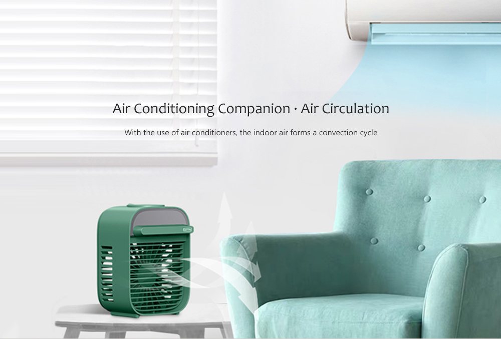 Nesugar R012 Cube Water Cooling Fan Air Conditioning Companion·Air Circulation