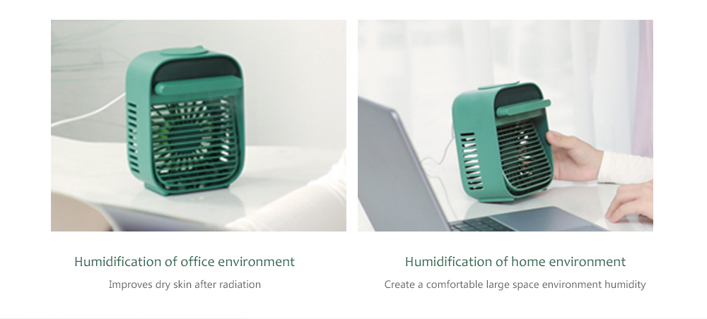 Nesugar R012 Cube Water Cooling Fan Humidification of office environment and home environment