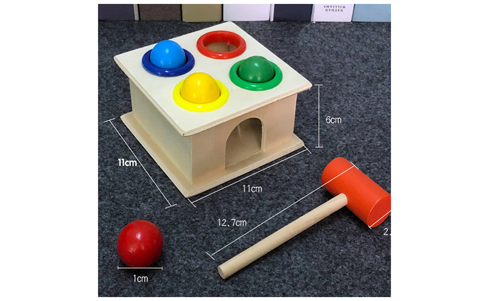 Hammer Beat Taiwan Knock Tables Boxes Piling Station Early Education Baby Toys Children's Educational Force - Multi-A