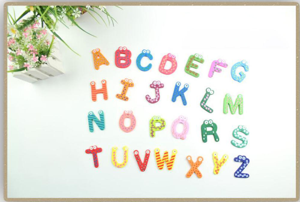 26 Letters Of The Alphabet Fridge Magnets Baby Early Education Fridge Magnet - Multi-A