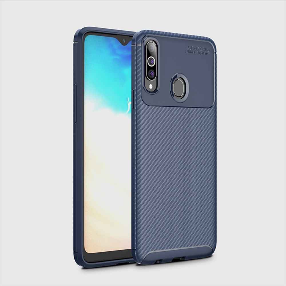 Beetle Carbon Fiber Phone Case for Samsung Galaxy A20s - Brown