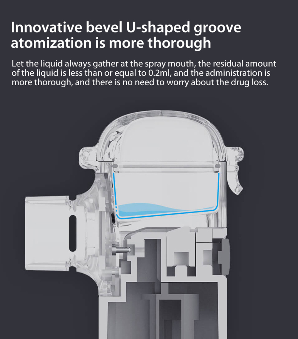 Andon VP-M3A Mute Micro-mesh Nebulizer Innovative bevel U-shaped groove atomization is more thorough