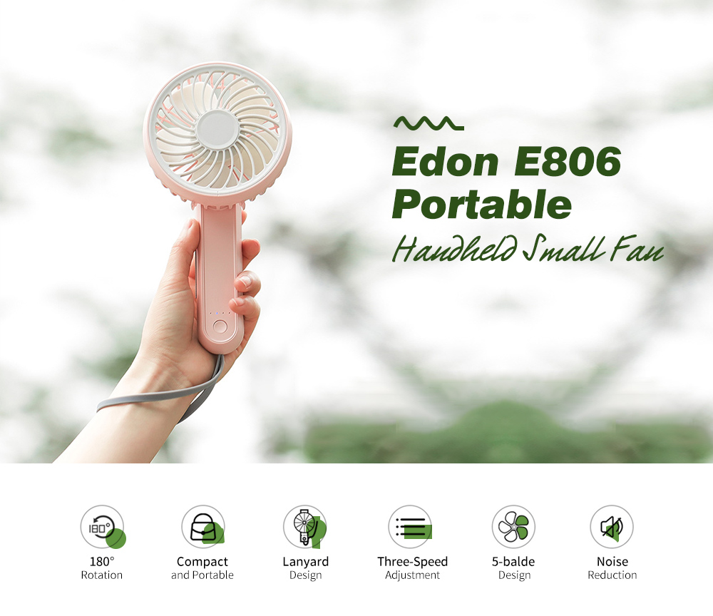 Edon E806 Portable Handheld Small Fan Main Features