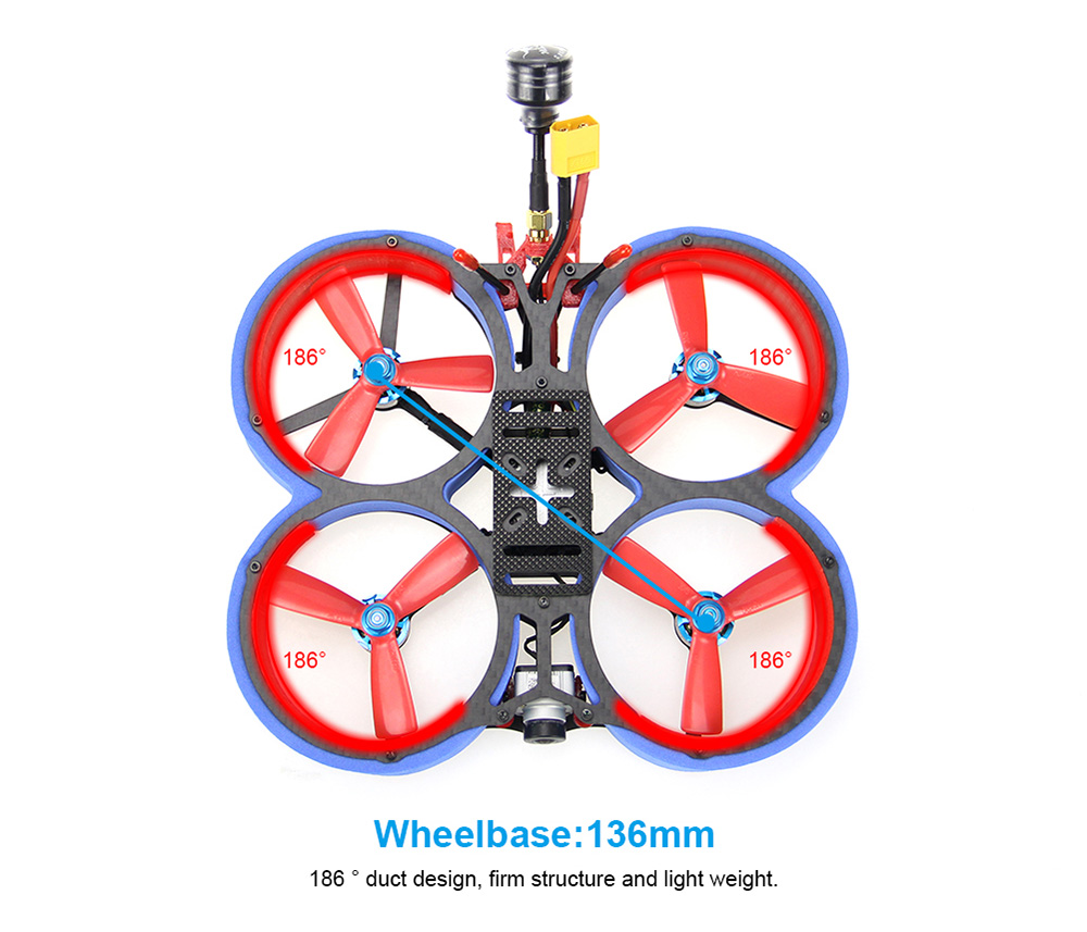 HGLRC Veyron 3 Cinewhoop FPV Racing Drone with Caddx Vista 4S / 6S - Light Slate Blue 6S PNP