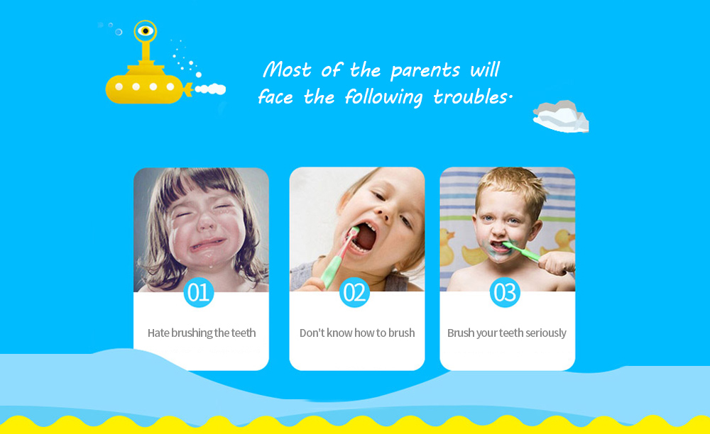 Rooman C1 Children Electric Toothbrush most of the parents will face the following troubles.