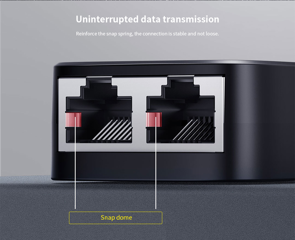 Baseus One In Two Out Network Divider Uninterrupted data transmission