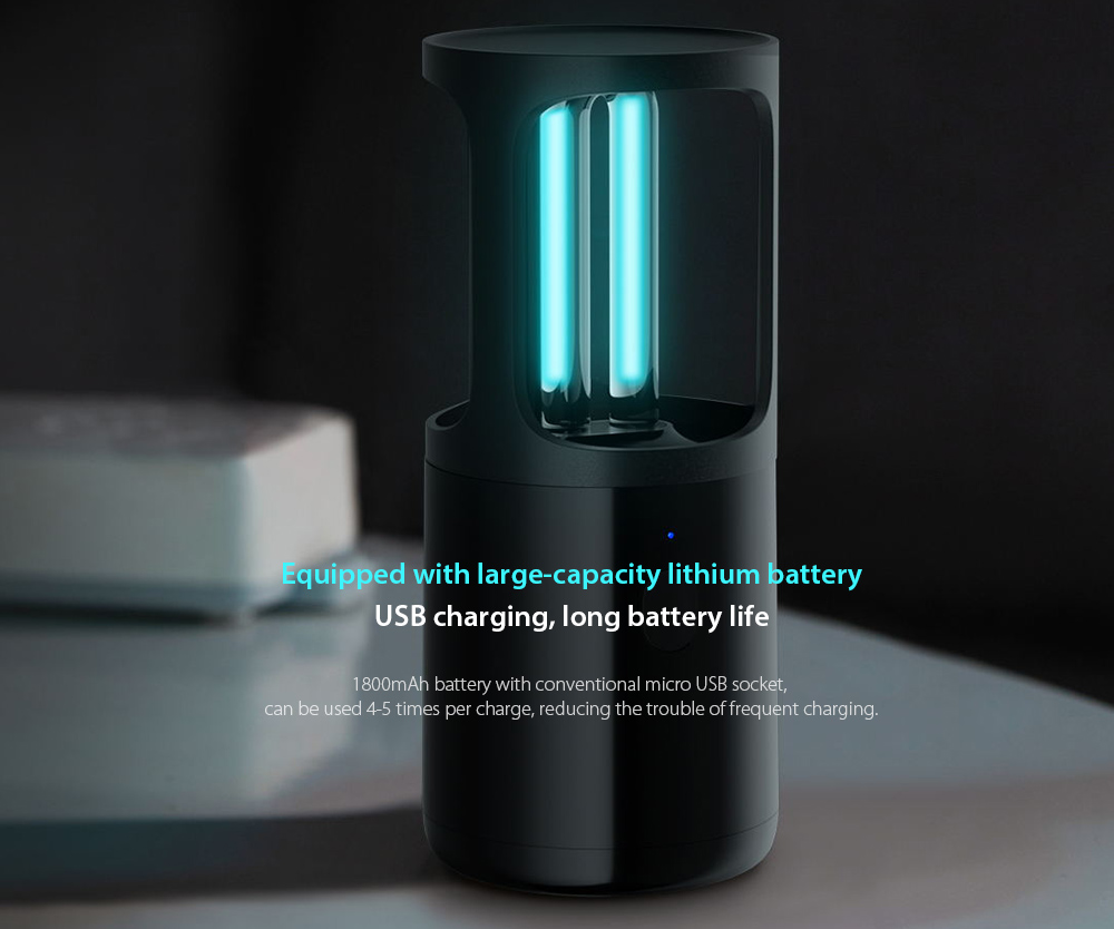 Portable UV Disinfection Lamp Equipped with large-capacity lithium battery
