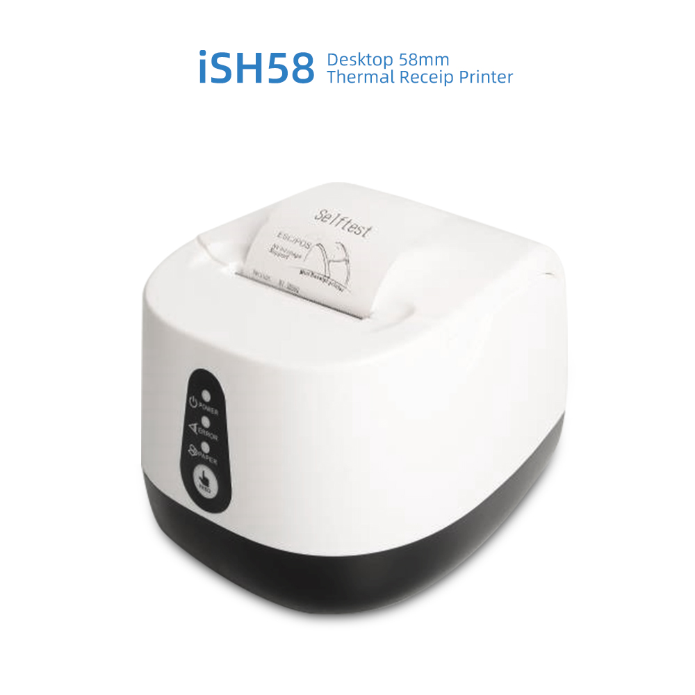 Gainscha iSH 58 Desktop 58mm Thermal Receipt Printer - White