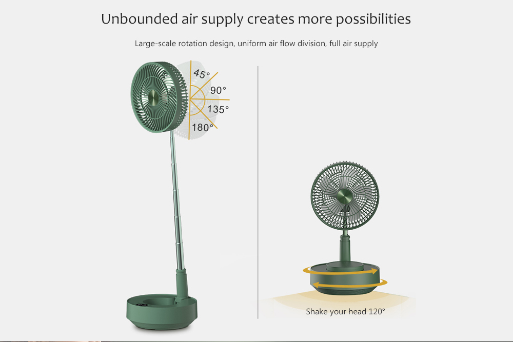 Edon E908 Folding Electronic Stand Fan Unbounded air supply creates more possibilities