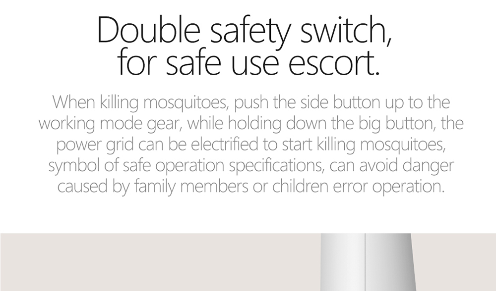 SW101 Handheld Electric Mosquito Killer Swatter USB Charging LED Head Lamp Effective anti-mosquito - White