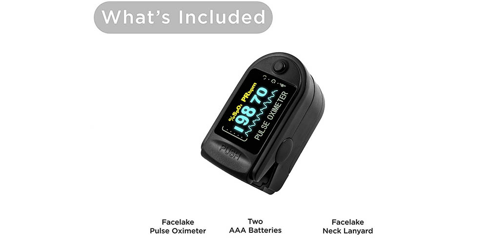 Fingertip Pulse Oximeter With LED Display - Multi-A