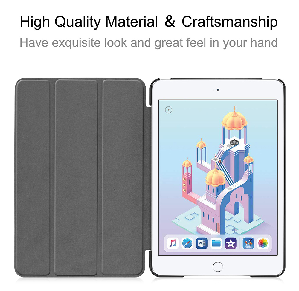 ENKAY Tri-fold Tablet Protector Cover Case with Stand for iPad Mini 2019 / iPad Mini 4 - Deep Blue
