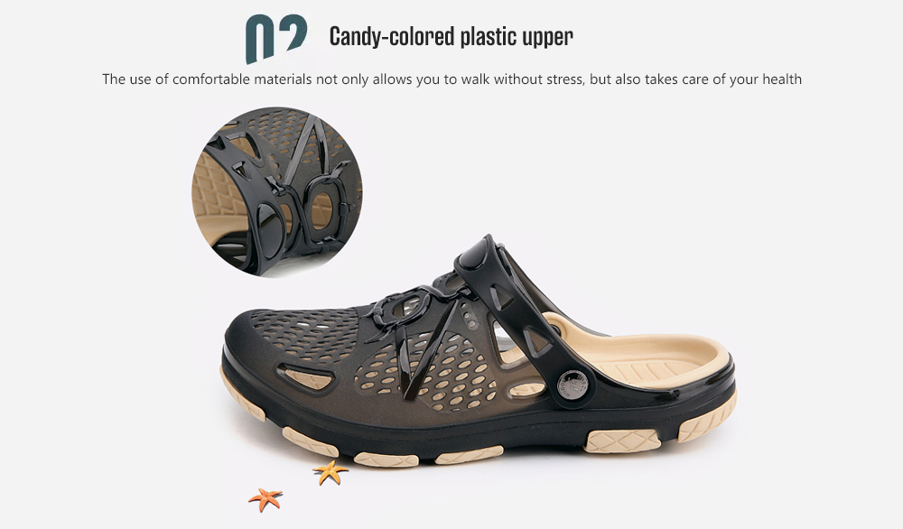 AILADUN Men Telly Translucent Casual Hole Slippers candy-colored plastic upper