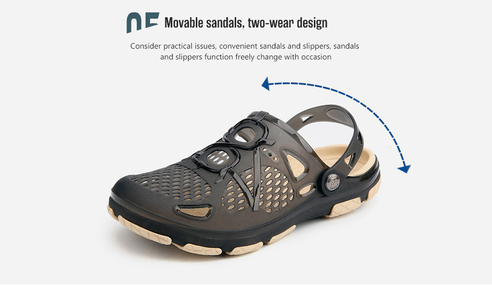 AILADUN Men Telly Translucent Casual Hole Slippers movable, two-wear design