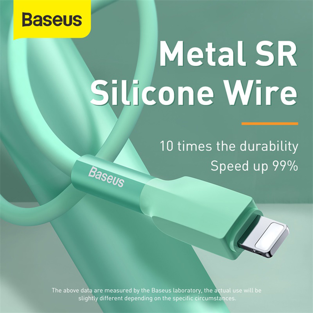 Baseus Silicone Cable USB for Type-C 1m - Red