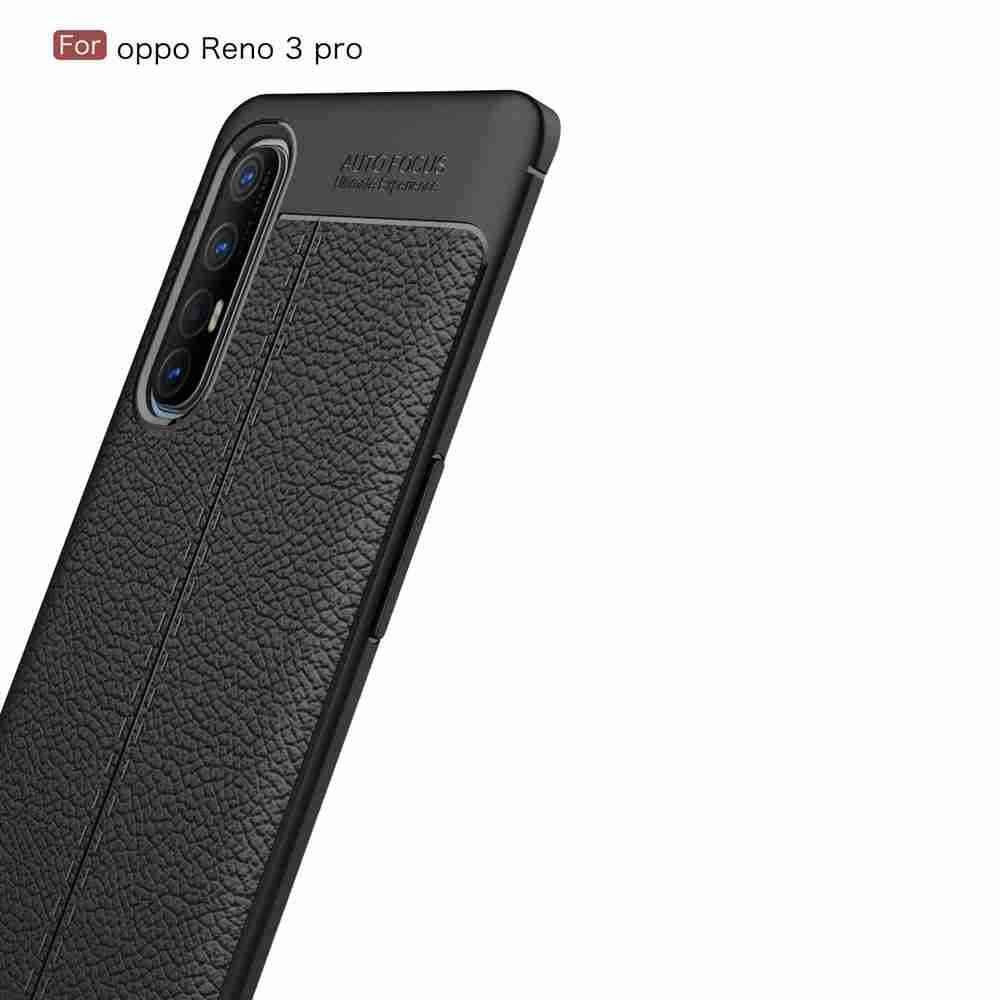 Leather Texture Carbon Fiber Phone Case for Oppo Reno 3 Pro/ Oppo /Find X2NEO - Rosso Red