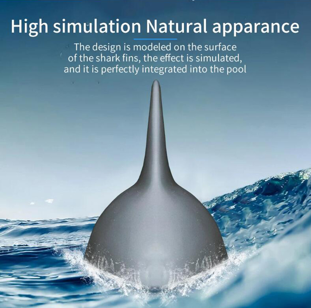 Flytec V302 2.4G 4-Channel Electric Remote Control RC Boat Simulation Shark Animal RTR Model Swimming Toy - Gray