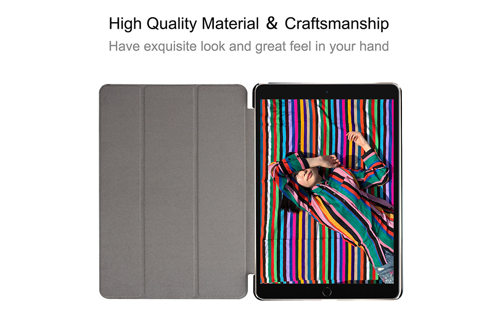 ENKAY Smart Tablet Case Cover with Stand for iPad Air 10.5 2019 / iPad Pro 10.5 2017 - White