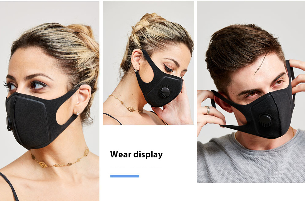 SYJF 136 2 Ply Polyester Cotton Adult Mask display