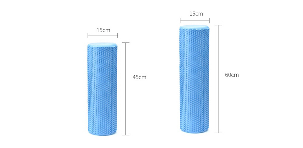 Solid Yoga Column EVA Fitness Pilates Yoga Foam Roller Blocks Train Gym Massage Grid Point Therapy Physiotherapy Exercise - Mint green 45 x 15CM