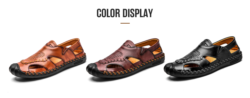 IZZUMI Hollow Breathable Men Casual Sandals color display