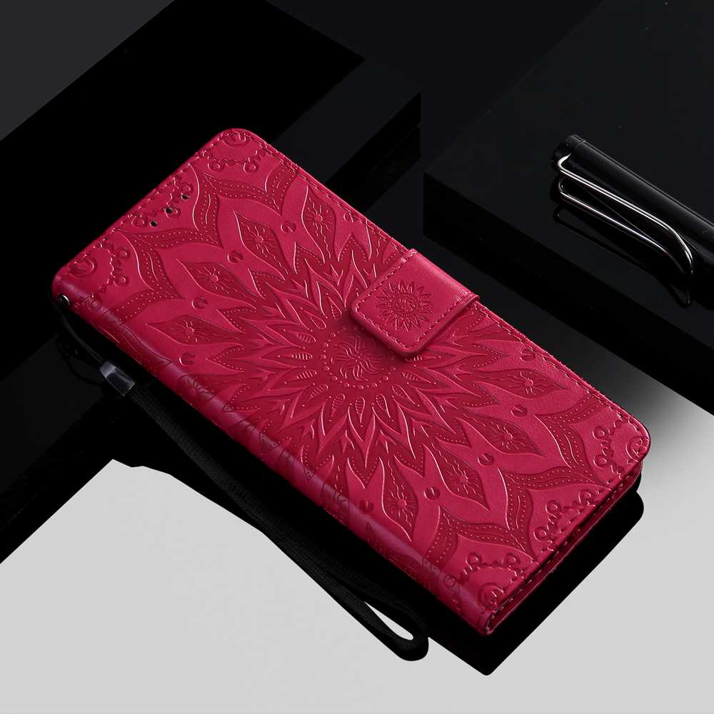 Sun Flower Embossing Phone Case for One Plus 8 - Pink
