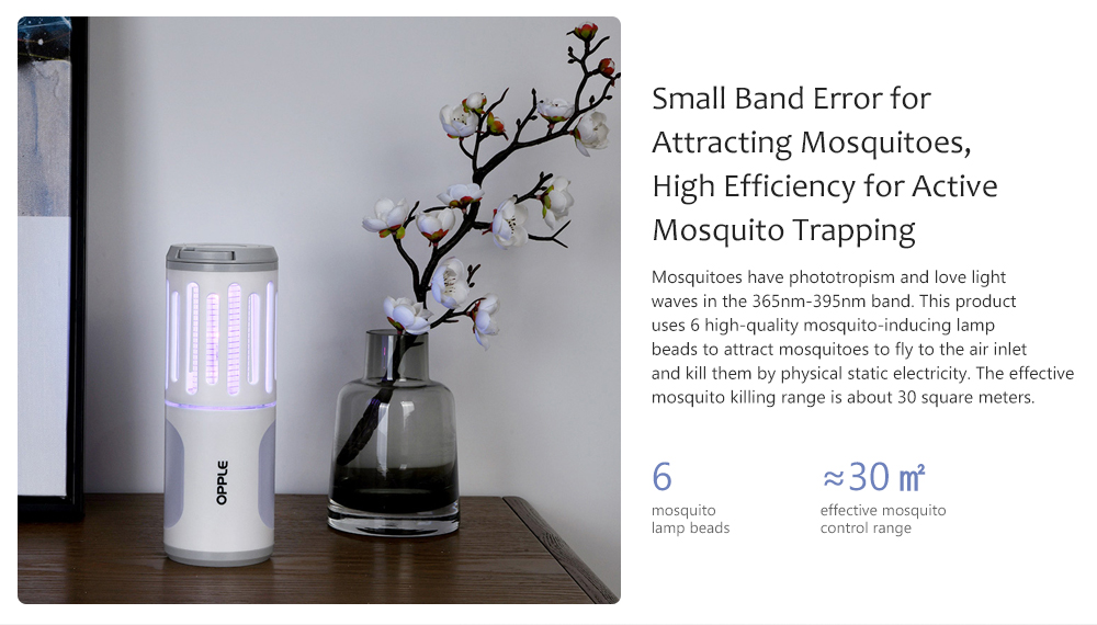 USB Charging Anti-mosquito Lamp Small Band Error for Attracting Mosquitoes, High Efficiency for Active Mosquito Trapping