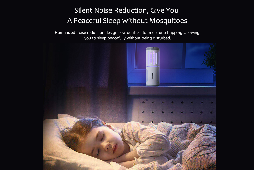 USB Charging Anti-mosquito Lamp Silent Noise Reduction, Give You A Peaceful Sleep without Mosquitoes