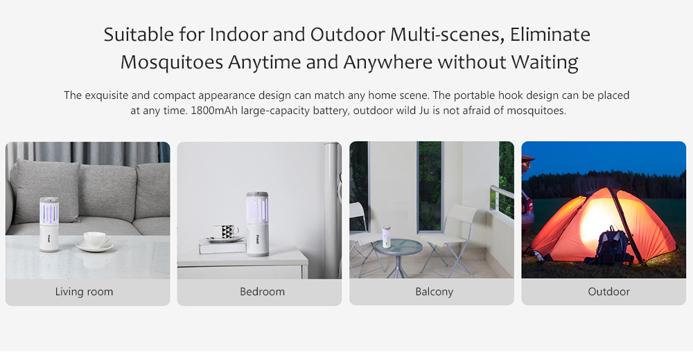 USB Charging Anti-mosquito Lamp Suitable for Indoor and Outdoor Multi-scenes, Eliminate Mosquitoes Anytime and Anywhere without Waiting