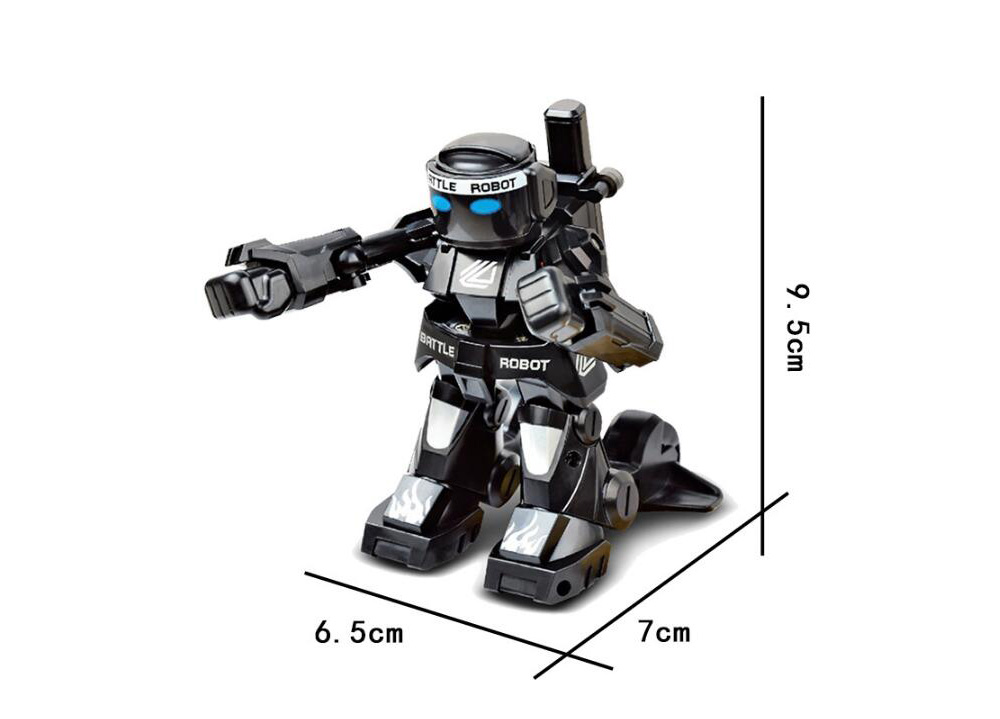 2.4G Remote Control Battle Competition RC Robot Toy - Black