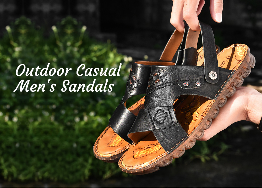 SENBAO 6779 High-quality Cowhide Summer Sandals