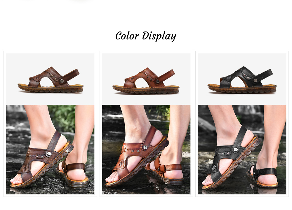 SENBAO 6779 High-quality Cowhide Summer Sandals color display