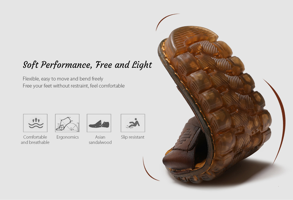 SENBAO 6779 High-quality Cowhide Summer Sandals Soft Performance, Free and Light