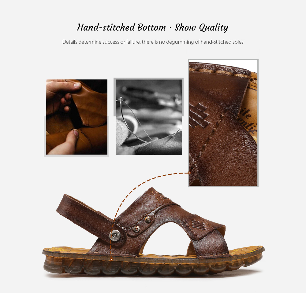 SENBAO 6779 High-quality Cowhide Summer Sandals Hand-stitched Bottom · Show Quality