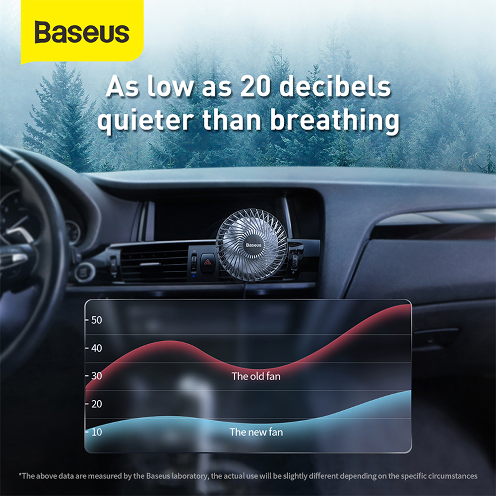 Baseus Exhaust Hole Installed USB3 Speed Air Cooling Fan for Car Air Outlet - Black