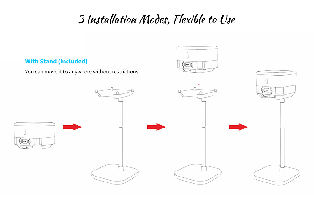 NOMU A1 350ml Contactless Smart Infrared Sterilizer Installation Method
