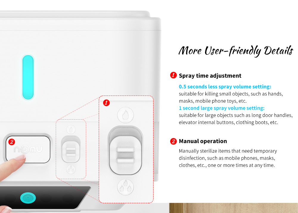 NOMU A1 350ml Contactless Smart Infrared Sterilizer Details