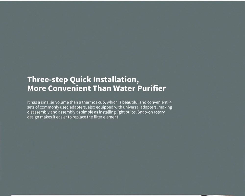 Xiaomi Mijia MUL11 Faucet Water Purifier Three-step Quick Installation, More Convenient Than Water Purifier