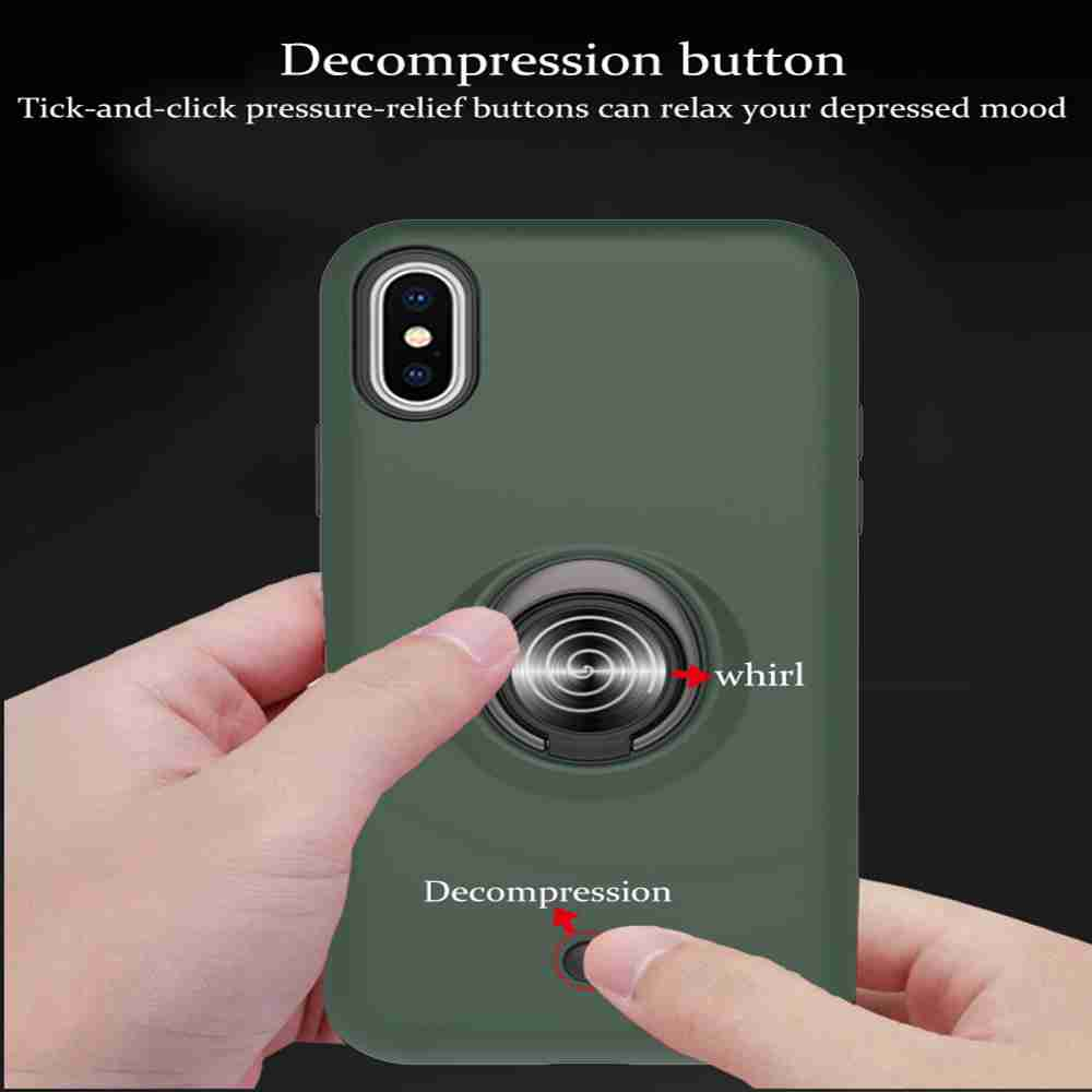 2-IN-1-GYRO Decompression PC+TPU Phone Case for iPhone 11 Pro Max - Rose Gold