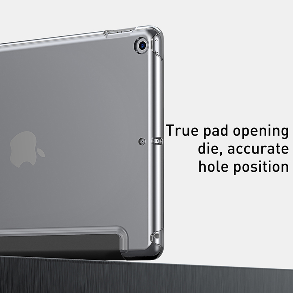 Durable Baseus Nice 2019 Smart Lightweight Protective Case for 10.2-INCH IPad - Black