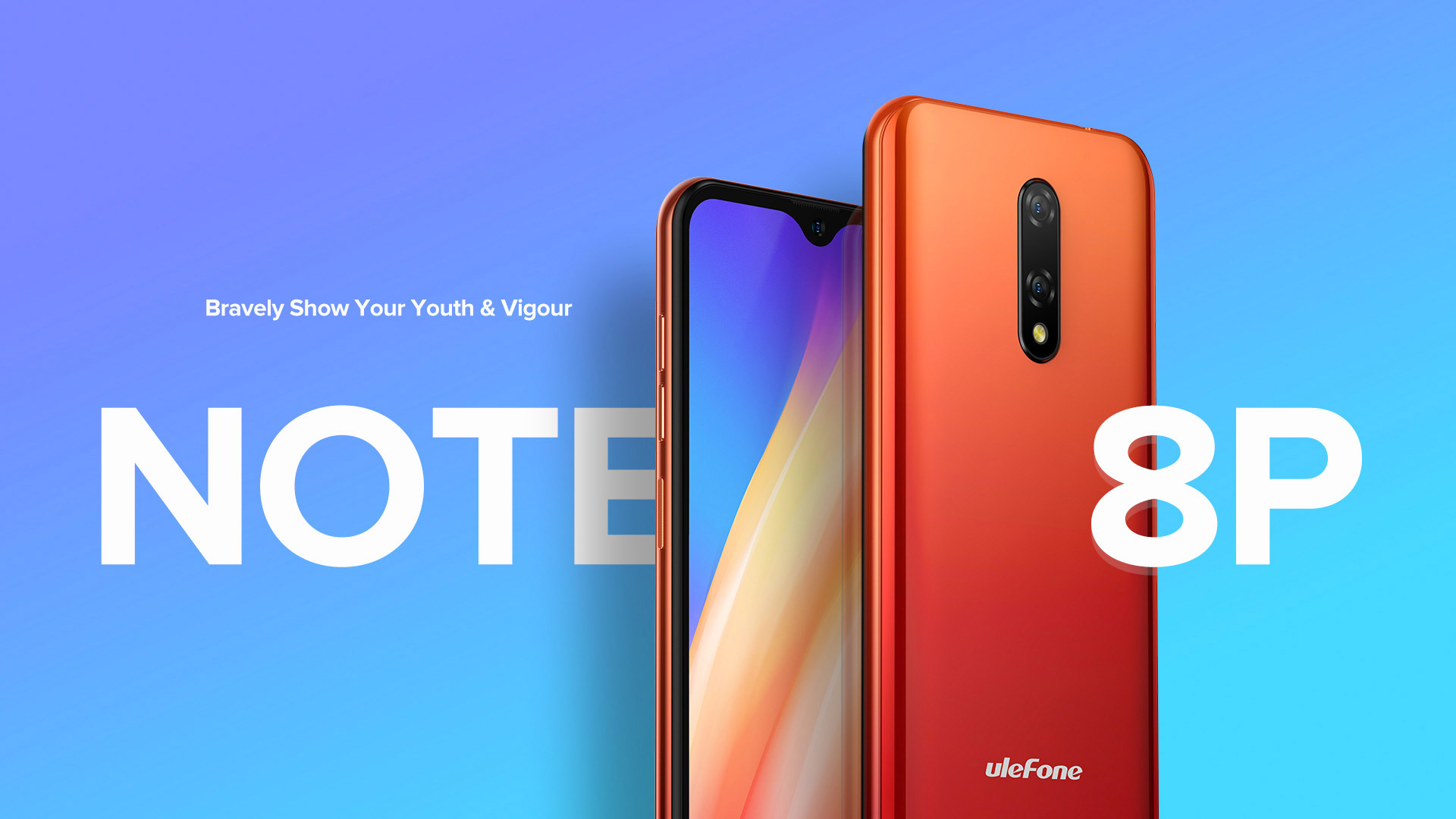 Ulefone Note 8P 4G Phablet 5.5 inch Android 10 Go Edition MT6737VW 2GB RAM 16GB ROM 8MP + 2MP Rear Camera 2700mAh Battery Global Version - Red