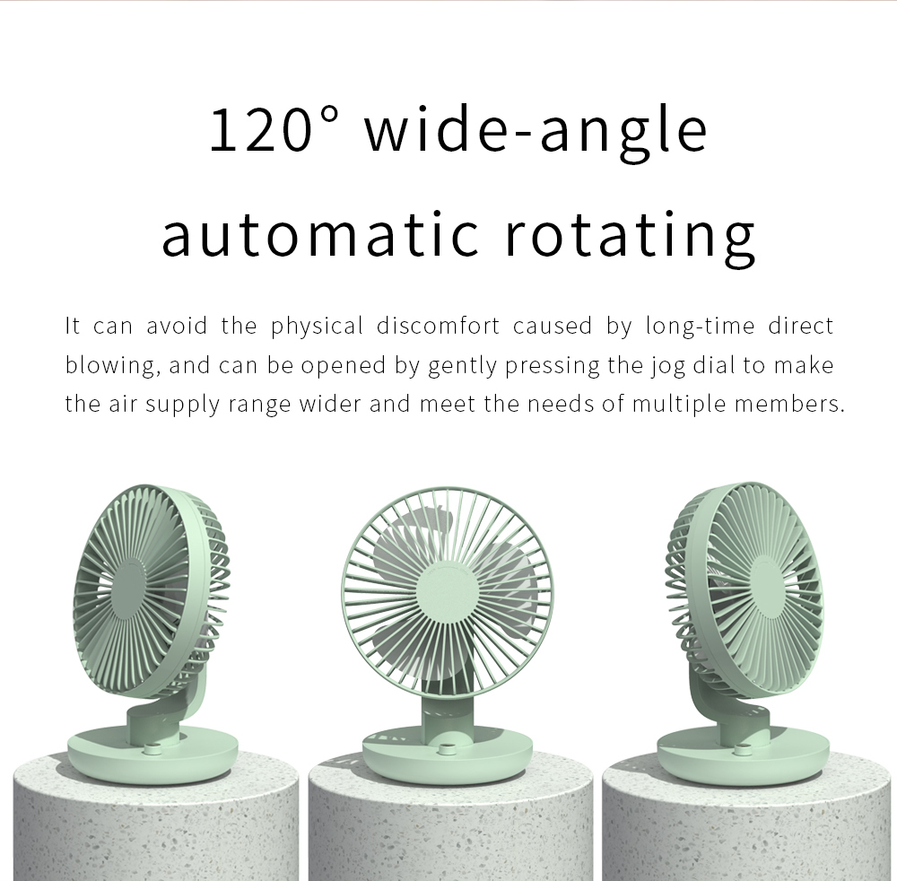 Y2 Student Desktop Office Electronic Fan USB Mini Air Conditioning Desktop Mute Shaking Head Cooling Tool - Pink