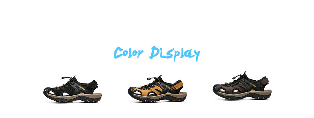 AILADUN Men Summer Sandal color display