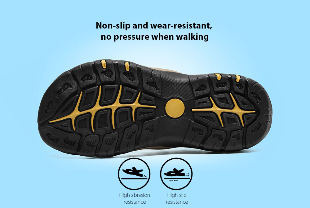 AILADUN Men Summer Sandal Non-slip and wear-resistant, no pressure when walking