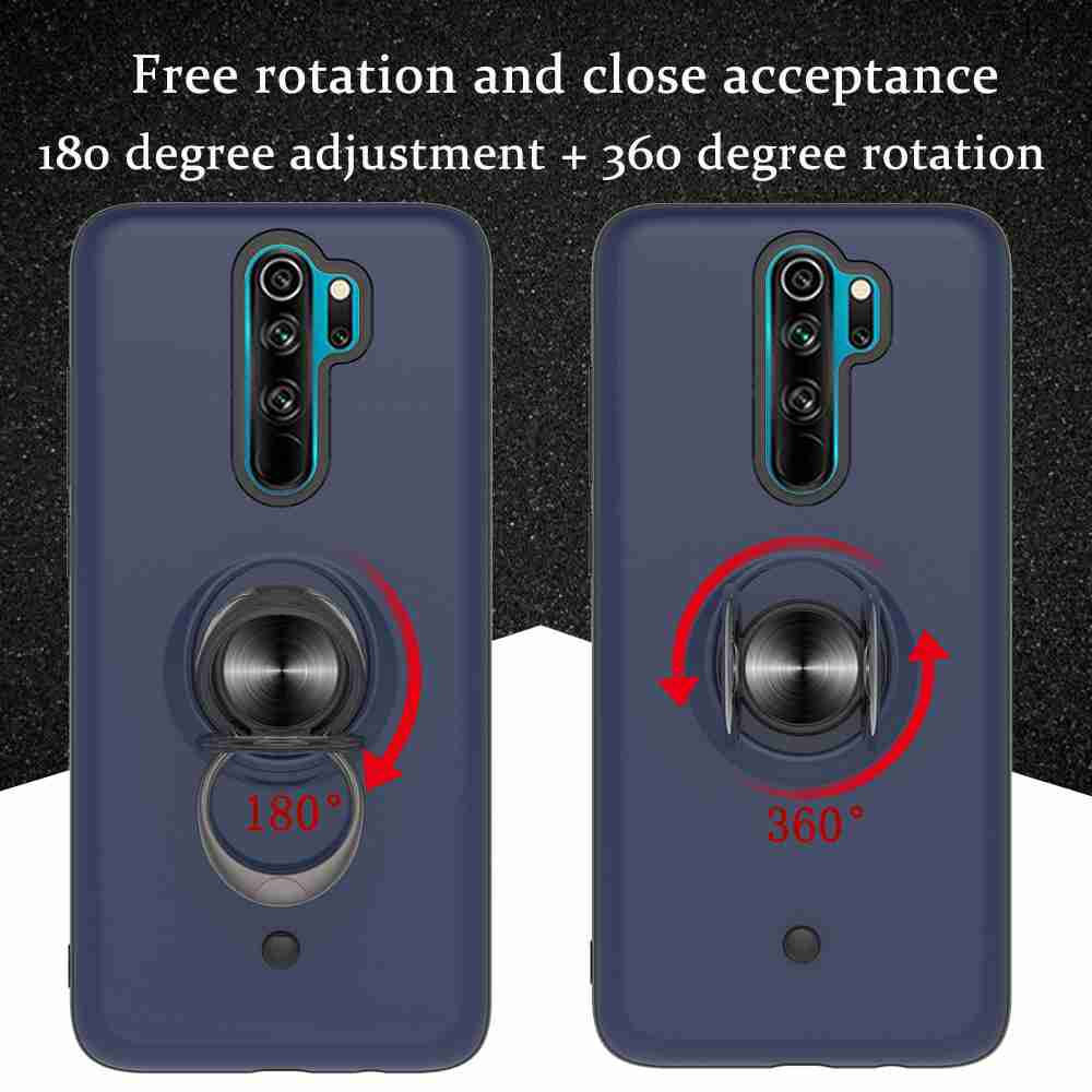 2-IN-1-GYRO Decompression PC+TPU Phone Case for Xiaomi Redmi Note 8 Pro - Cadetblue