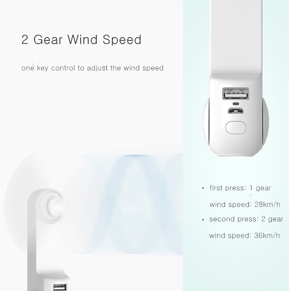 Color : White FoldableTwo Speeds Quiet Flashlight Features Outdoor Travel XIAOXIONG USB Rechargeable Handheld Mini Fan Mobile Power Function Portable Battery-Powere Fan